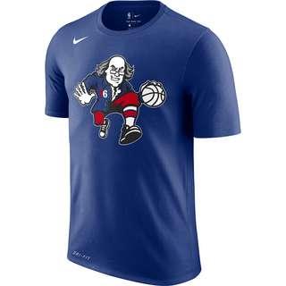 Nike NBA Philadelphia 76ers Fanshirt Herren blau