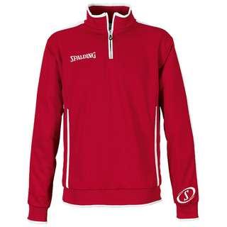 Spalding Evolution Quarterzip Sweatshirt Herren rot / weiß