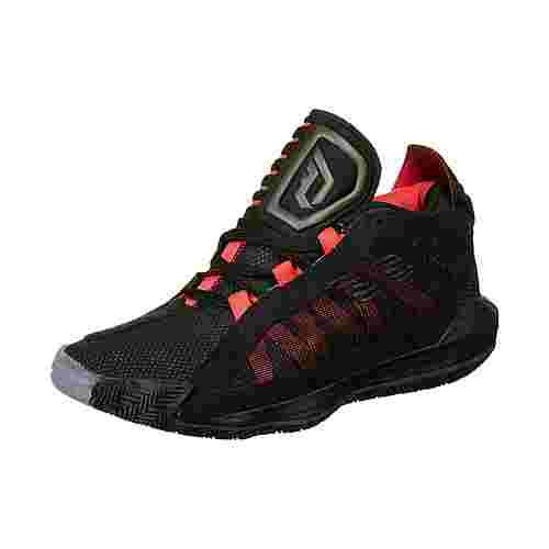 adidas Dame 6 Basketballschuhe Kinder schwarz / rot