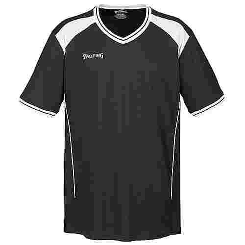 Spalding Crossover Shooting Basketball Shirt Herren schwarz / weiß