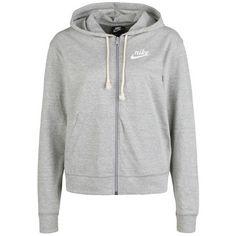 Nike Gym Vintage Kapuzenjacke Damen dk grey heather-sail
