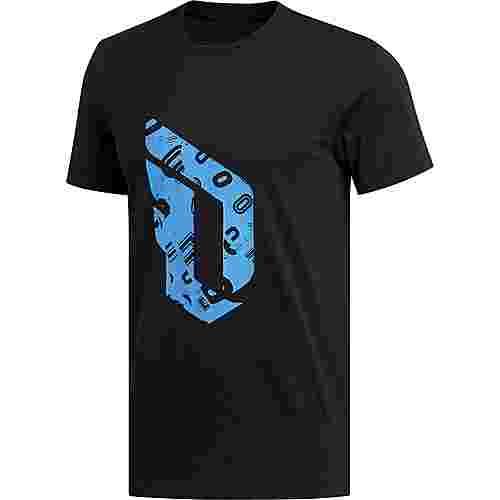 adidas Dame Logo Basketball Shirt Herren schwarz / hellblau