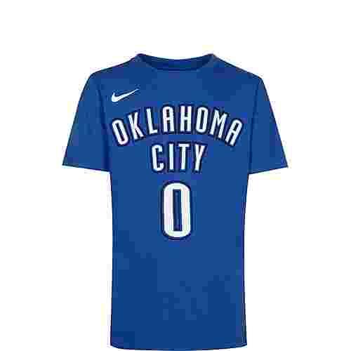 Nike NBA Icon Edition Player #0 Westbrook Basketball Shirt Kinder hellblau / weiß