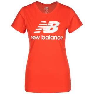 NEW BALANCE Essentials Stacked Logo T-Shirt Damen rot
