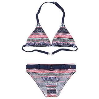 S.OLIVER Bikini Set Damen blau-rosé-gestreift