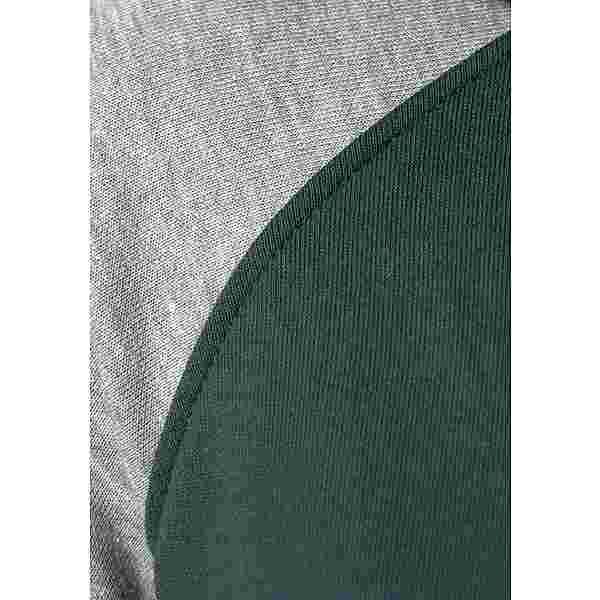 Bench Sweatjacke Damen dunkelgrün-hellgrau