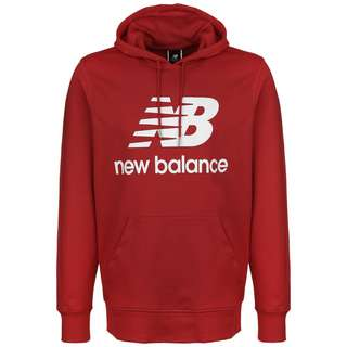 NEW BALANCE Essentials Stacked Logo Hoodie Herren rot