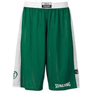 Spalding Essential Reversible Basketball-Shorts Herren grün / weiß