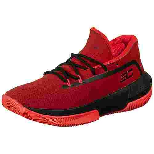 Under Armour Grade School 3Zero III Basketballschuhe Kinder rot / schwarz
