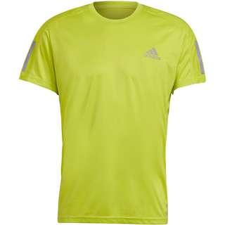 adidas Own the Run Response Aeroready Funktionsshirt Herren acid yellow