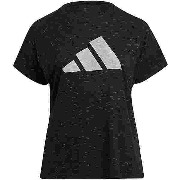 adidas T-Shirt Damen black melange