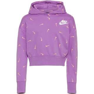 Nike Hoodie Kinder violet star-orange chalk-white