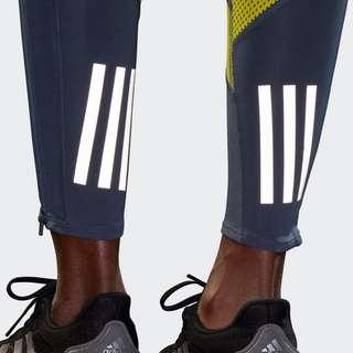 adidas Own the Run Tight Tights Damen Legacy Blue / Acid Yellow