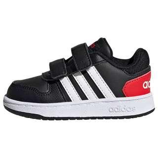 adidas Hoops 2.0 Schuh Sneaker Kinder Core Black / Cloud White / Vivid Red