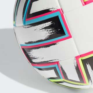 adidas Uniforia League Sala Ball Fußball Herren White / Black / Signal Green / Bright Cyan