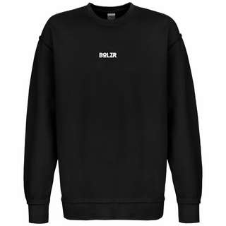 Bolzr Oversized Sweatshirt Herren schwarz / weiß