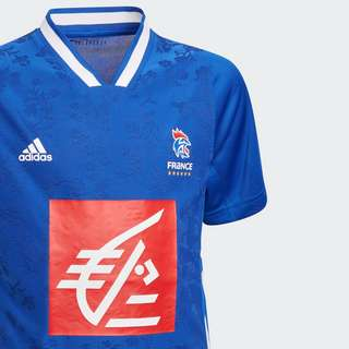 adidas Frankreich Handballtrikot Funktionsshirt Kinder Blau