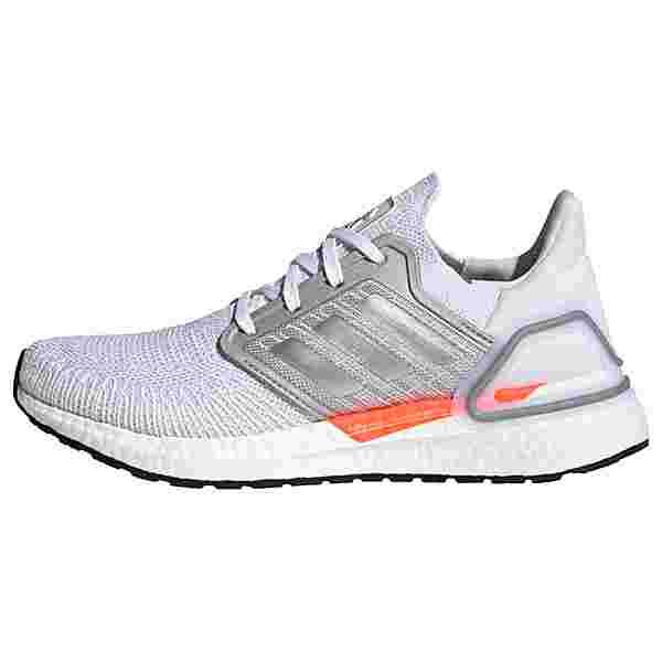 adidas Ultraboost 20 Laufschuh Laufschuhe Damen Cloud White / Silver Metallic / Fresh Candy