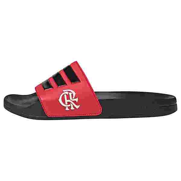 adidas CR Flamengo adilette Badelatschen Herren Core Black / Scarlet / Core Black