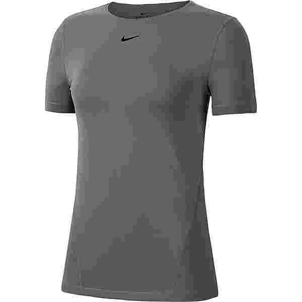 Nike PRO ESSENTIAL Funktionsshirt Damen smoke grey-black