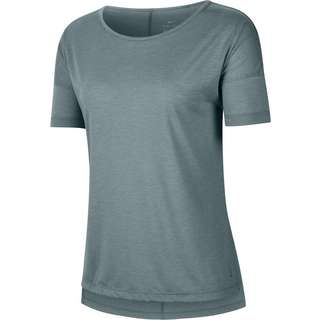 Nike YOGA DRI-FIT Funktionsshirt Damen hasta-htr-light pumice-dark teal green