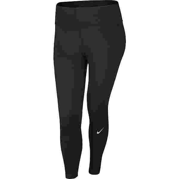 Nike Plus Size Lauftights Damen black-reflective silv