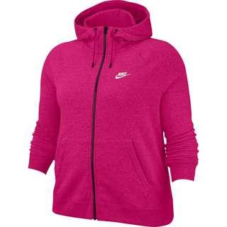Nike Plus Size Sweatjacke Damen fireberry-htr-white