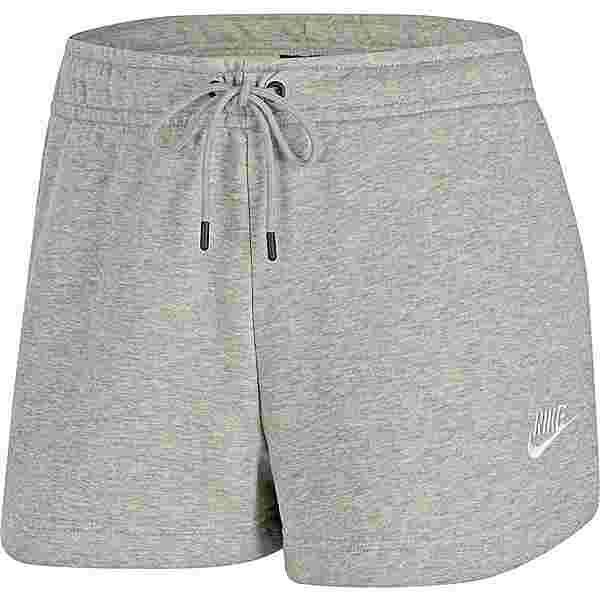 Nike NSW Essential Sweatshorts Damen dk grey heather-matte silver-white