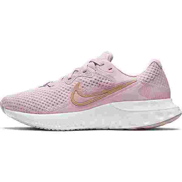 Nike Renew Run 2 Laufschuhe Damen champagne-mtlc red bronze-light violet