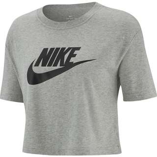 Nike NSW Essential Croptop Damen dk grey heather-black
