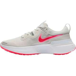 Nike React Miler Laufschuhe Damen platinum tint-bright crimson