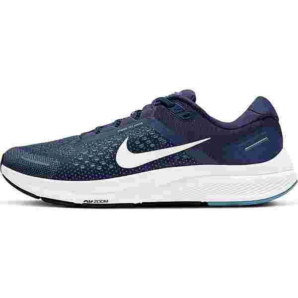 Nike AIR ZOOM STRUCTURE 23 Laufschuhe Herren midnight navy-white-cerulean-dk obsidian-black