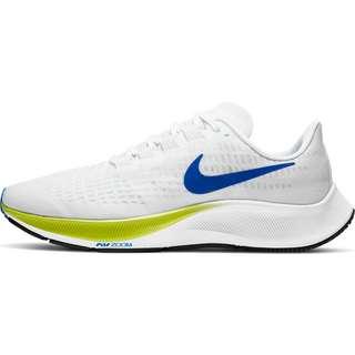 Nike AIR ZOOM PEGASUS 37 Laufschuhe Herren white-racer blue-cyber-black-pure platinum