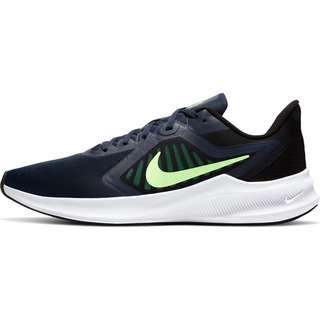 Nike DOWNSHIFTER 10 Laufschuhe Herren obsidian-lime glow-black