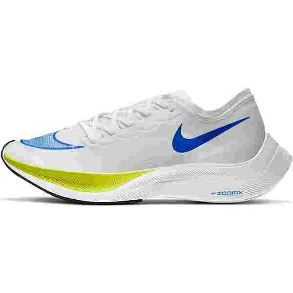 Nike ZOOMX VAPORFLY NEXT% Laufschuhe Herren white-racer blue-cyber-black