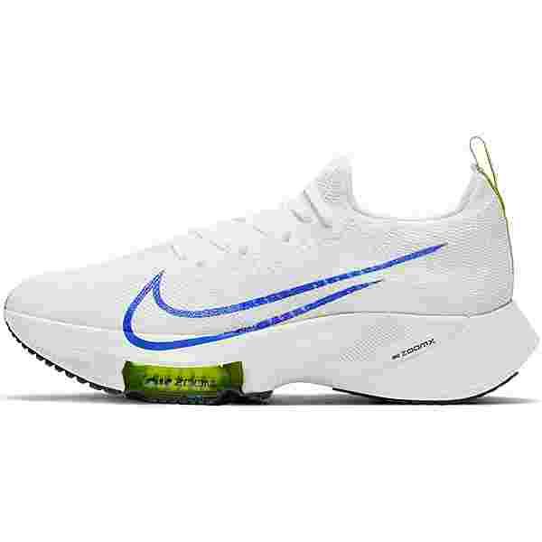 Nike AIR ZOOM TEMPO NEXT% Laufschuhe Herren white-racer blue-volt-black