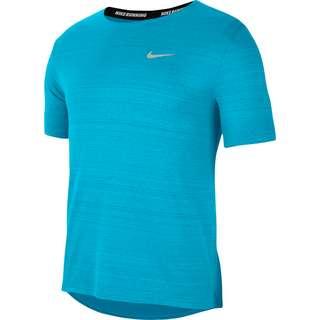 Nike Miler Funktionsshirt Herren chlorine blue-reflective silv