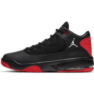 Nike Jordan Max Aura 2 Basketballschuhe Herren black-white-chile red
