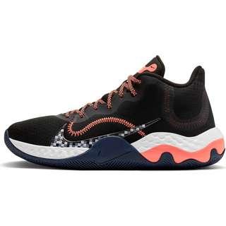 Nike Renew Elevate Basketballschuhe Herren black-bright mango-thunder blue