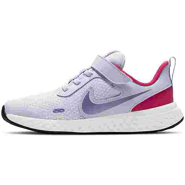 Nike REVOLUTION 5 Laufschuhe Kinder football grey/purple pulse-fireberry