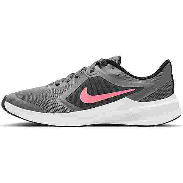 Nike DOWNSHIFTER 10 Laufschuhe Kinder smoke grey-sunset pulse-black-white