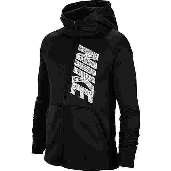 Nike THERMA GFX Kapuzenjacke Kinder black/white