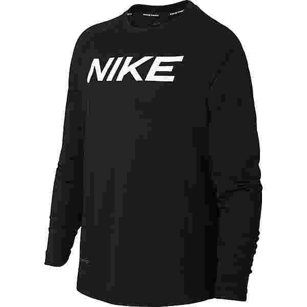 Nike Pro Funktionsshirt Kinder black-white