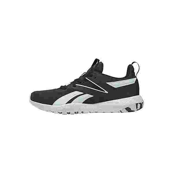 Reebok Mega Flexagon Shoes Fitnessschuhe Damen Core Black / Aqua Dust / Orange Flare