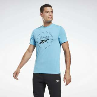 Reebok Graphic Series Speedwick T-Shirt Funktionsshirt Herren Türkis