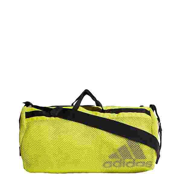 adidas Sports Mesh Duffelbag Sporttasche Damen Acid Yellow / Black