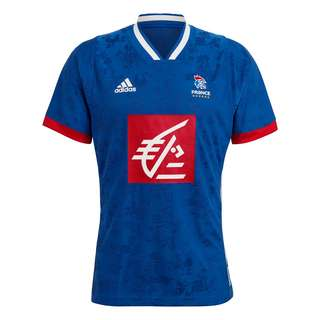 adidas Frankreich Handballtrikot Funktionsshirt Herren Royal Blue / White