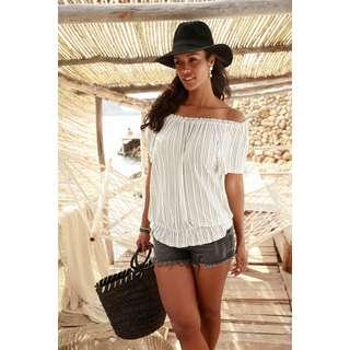 Lascana T-Shirt Damen weiß-gestreift