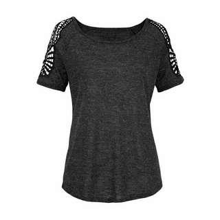Vivance T-Shirt Damen anthrazit-meliert