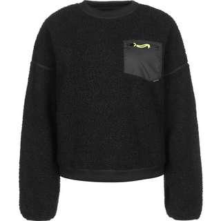 CONVERSE Sherpa Crew Sweatshirt Damen schwarz